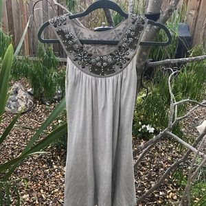 Miss Me grey bedazzled dress